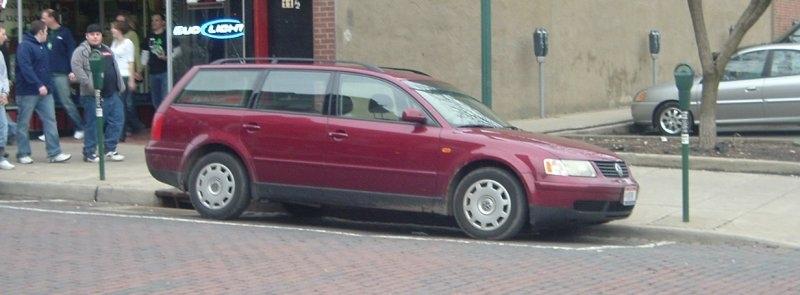 Maroon-Volkswagen-Passant