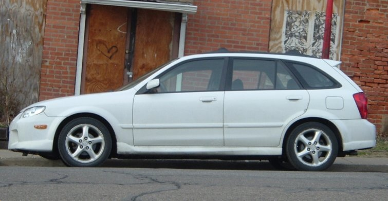White-Mazda-Protege
