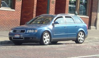 An Audi A4 station wagon on Court Street in Athens, Ohio