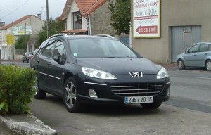Sharp black Peugeot wagon